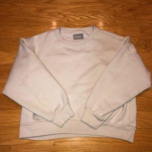 Everlane Oversized Cream Ribbed Sweatshirt